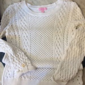 Lilly Pulitzer white sweater size small